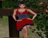 Dianna Red Black Dress