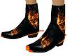 Flamimg Skull Boots