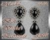 !a Blk Velvet Earrings