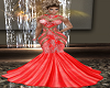 Crystal Med Gown Red