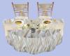 [B] Beach Wedding Table
