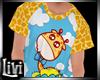 Kid Giraffe Boy  tee