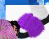 slipper purple