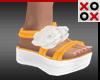 Orange Baby Doll Sandals