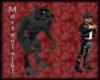 (M) black lycan warewolf