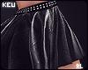 ʞ- Zodiac Leather Skirt