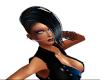 Black/blue Warrior Hair