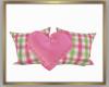 2 Pillows w/Heart Derive