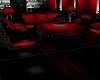 Black & Red Sofa Set