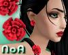 *NoA*Rose Earrings Red