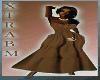(D) XBM BROWN DRESS