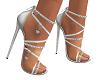 Valentine Silver Heels
