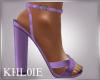 K purple spring heels
