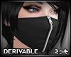 ! Black Mask Zipper (F)