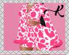 Pink Cow W Fur