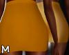 ✏ Orange Pencil Skirt