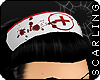 s| Bloody Nurse Hat -Wht