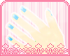 *AM* blue nails