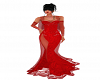 Ruby Poinsettia Gown