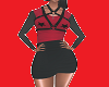 dress red black