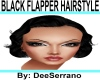 BLACK FLAPPER HAIRSTYLE
