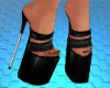 Black Denim Heels