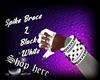 Spike Brace L BlackWhite