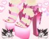 ♡ butterfly heels ♡