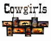 Hanging CowGirl Sign