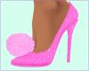 Pink pom-pom heels