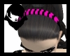 Pink/Bl Striped Hairband