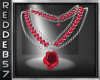 Rose Ruby Necklace