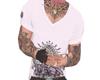 V shirt + Tattoos pink
