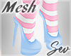 *S Bunny Maid Shoes Pink