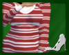 L8y* Red Striped Top