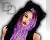 =D Hoody Ears Violet
