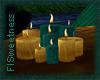 FLS Teal & Gold Candles