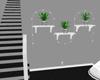 (J) Wall PlantsW/Lights