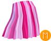 -MR- StripedSkirt Pink