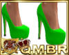 QMBR Toxic Green Leather