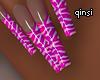 q! pink zebra nails