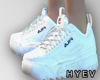 F/ FILA white shoes