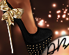 T  Monsta Gold&Blk Heels