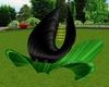 Black Rose Lotus Chair