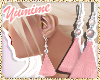 [Y] Pink Tassel Earrings