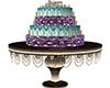 Purple Teal Birthday Cak