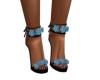 Blue Rose Black Heels
