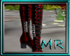 metallic red boots