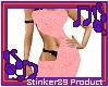 Pink strap dress