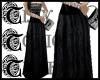 TTT Print Silk Skirt